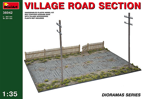 MiniArt 1/35 Village Road Section # 36042