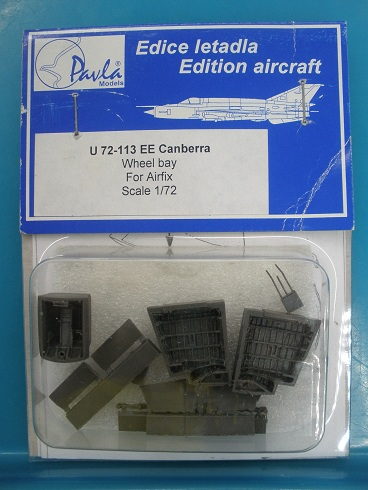 Pavla 1\72 AC/EE Canberra Wheel bay (designed to be assembled with model kits from Airfix) # 72113