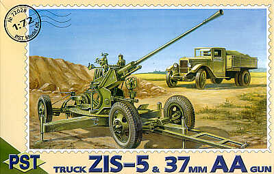 PST 1/72 37mm AA gun with ZIS-5 truck # 72028