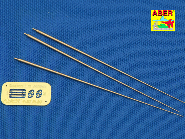 Aber 1/35 German 2m aerials (set of 3 pcs,) # R26