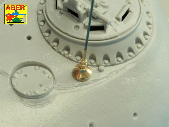 Aber 1/35 Set of aerials R-113 for Russian Tanks like: T-54; T-55 and other AVF # R43
