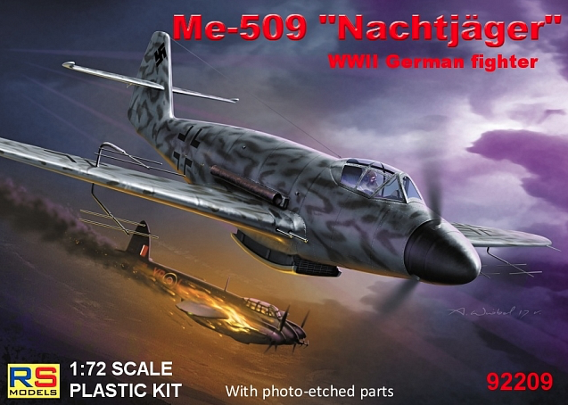 "RS Models 1/72 Me-509 ""Nachtjager"" WWII German Fighter # 92209"