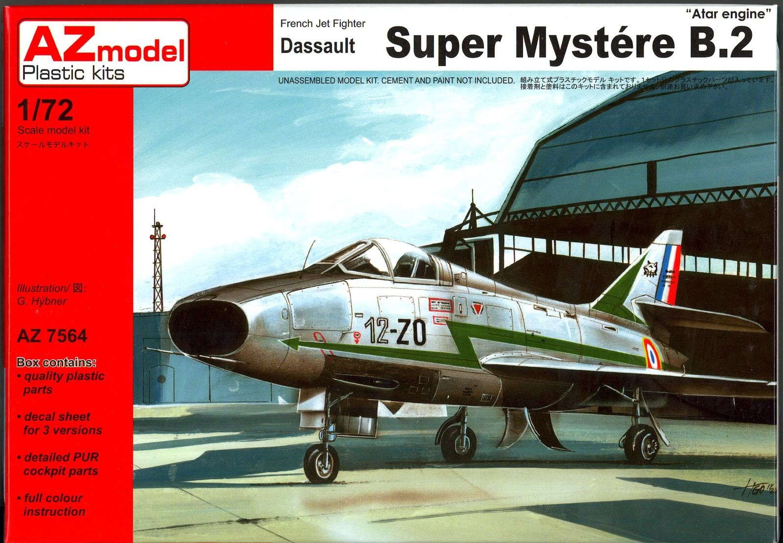 AZ Models 1/72 DASSAULT SUPER MYSTERE B-2 w/ATAR Engine French Jet Fighter # 7564