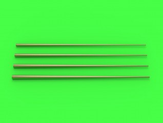 Master Model 1/350 Set of universal tapered masts No2 (length = 100mm each, diameters = 0,7/2,2mm; 0,8/2,5mm; 0,9/2,8mm; 1/3mm) # 350-090