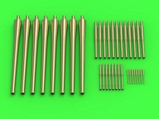 R.N. Zara armament - 203mm (8pcs), 100mm (12pcs), 37mm (8pcs), 13,2mm (8pcs) barrels (for Trumpeter kit) # SM-350-098