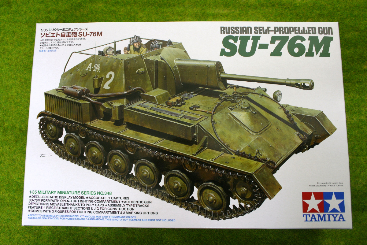 Tamiya 1/35 RUSSIAN SELF-PROPELLED GUN SU-76M # 35348