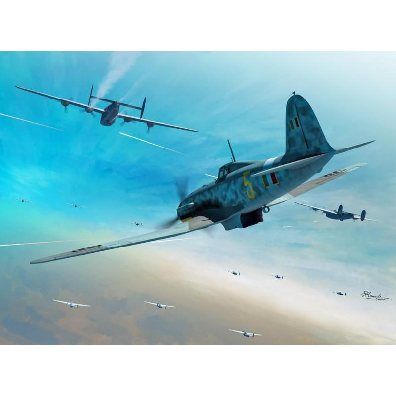 Sword 1/72 Fiat G.55 2 in 1 series: box contains 2 complete kits # 72104
