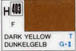 Mr Hobby Aqueous Hobby Colour H403 : Dark Yellow