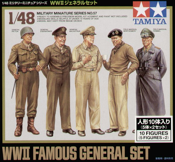 Tamiya 1/48 WWII Famous Generals # 32557