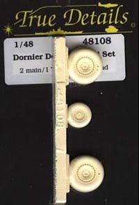 True Details 1/48 Dornier Do.335 Wheel Set # 48108