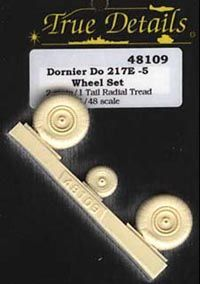 True Details 1/48 Dornier Do.217 Wheel Set # 48109
