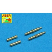 Aber 1/48 Set of 2 Barrels for German Aircraft 30mm Machine Cannons MK 108 with Blast Tube # 48010