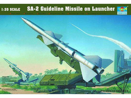 TRUMPETER 1/35 SA-2 Guideline Missile on Launcher # 00206