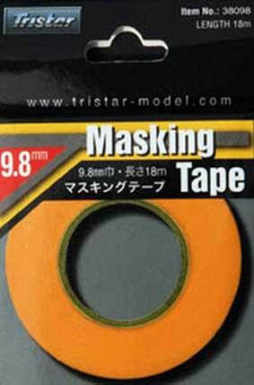 TRISTAR  Masking Tape, 9.8mm x 18m/roll # 38098