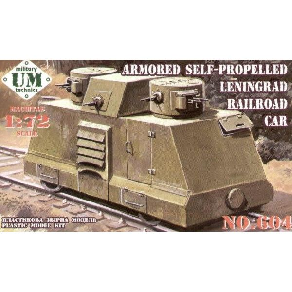 UMT 1/72 Armored self-propelled Leningrad railroad car # 604