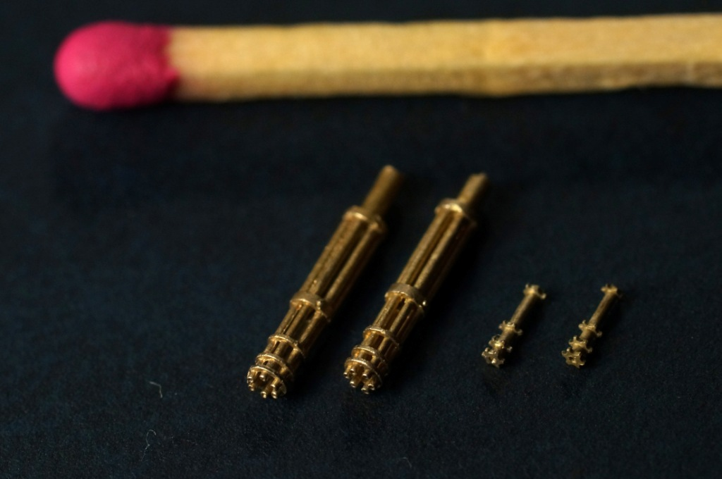 Mini World 1/48 M134 Minigun (early) barrels (2 pieces) # 48038a
