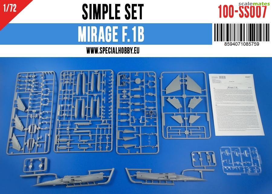 Special Hobby 1/72 Mirage F.1B Simple Set # SS007