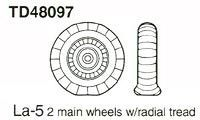 True Details 1/48 La-5 Wheel Set # 48097