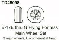 True Details 1/48 B-17 E/G Wheel Set # 48098